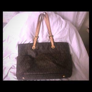 MMK lent set trace medium leather tote bag